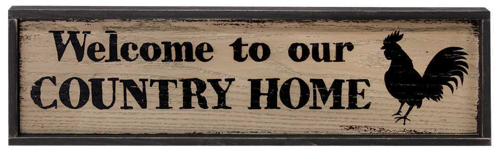 Home accents country home framed sign the hearthside for The country home collection