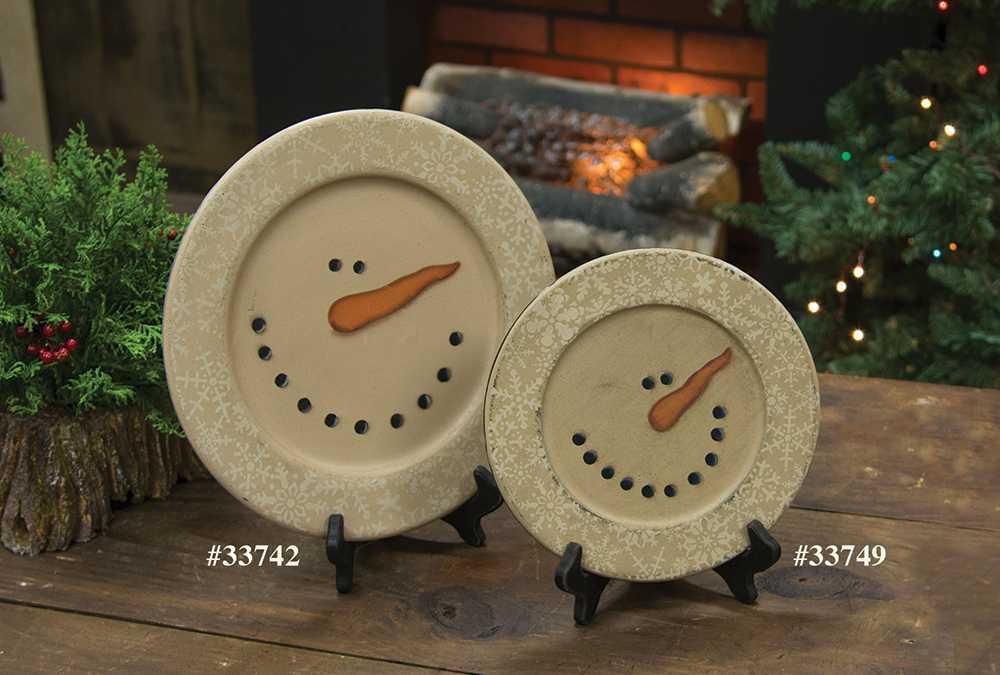 #33742 Snowman Snowflake Plate