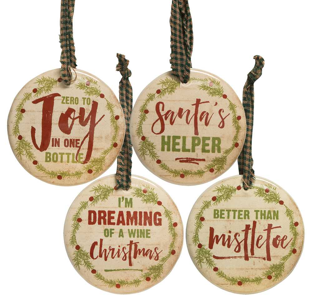 13099 wine lovers christmas ornaments