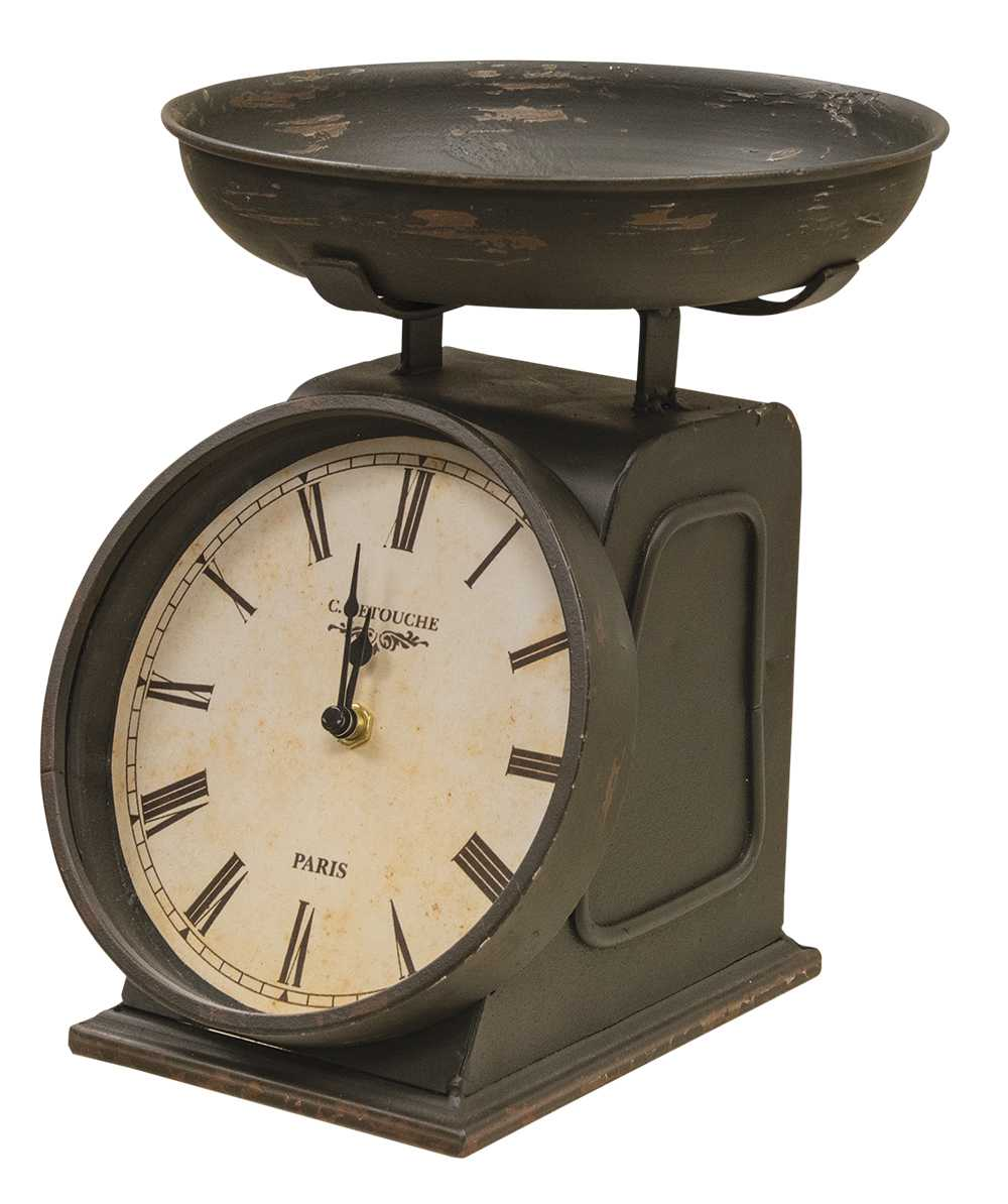 Vintage Clock With Decorative Scale