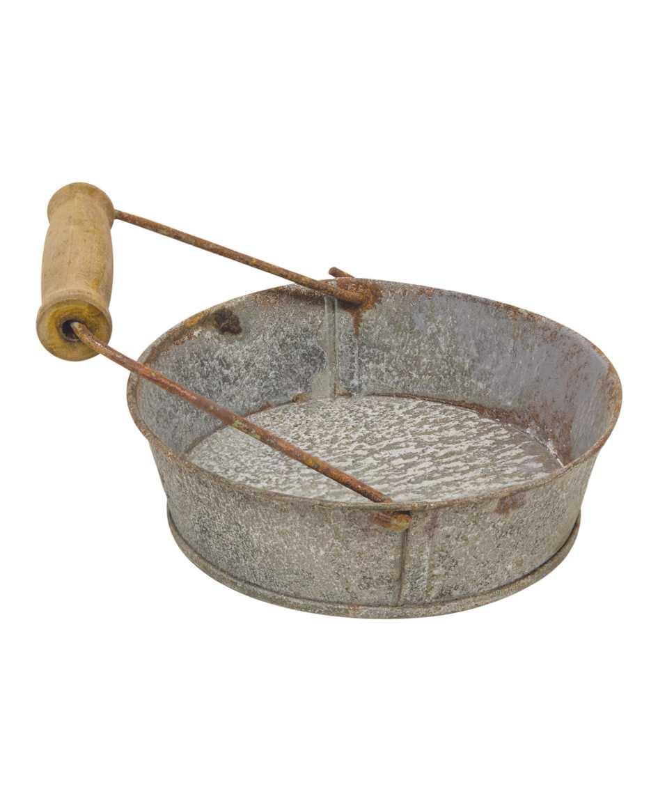 Washed Galvanized Pie Pan