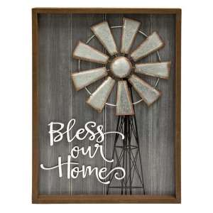 #90709 Bless This Home Windmill Sign